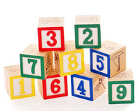 Wood blocks with numbers on them